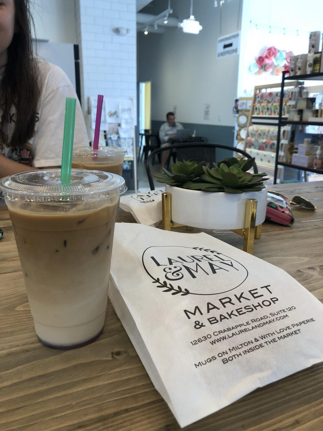 Pictured is Laurel and May's delicious lavender latte. Photo Credit: Smriti Tayal