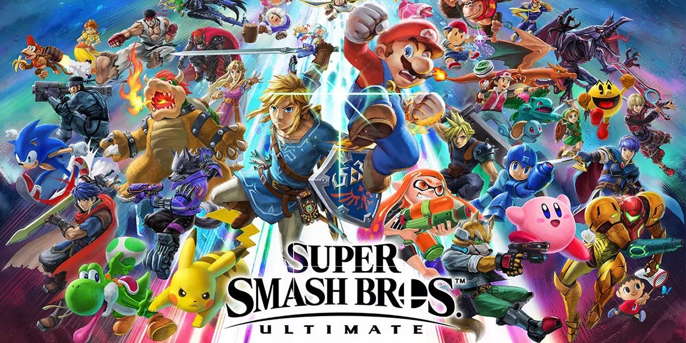 Wallpaper featuring most of the characters in the roster. Notable characters are Mario, Bowser, Pikachu, Yoshi, Sonic, Samus, Mega Man, Kirby, Pac-Man, and much more. Photo Credit: screenrant.com