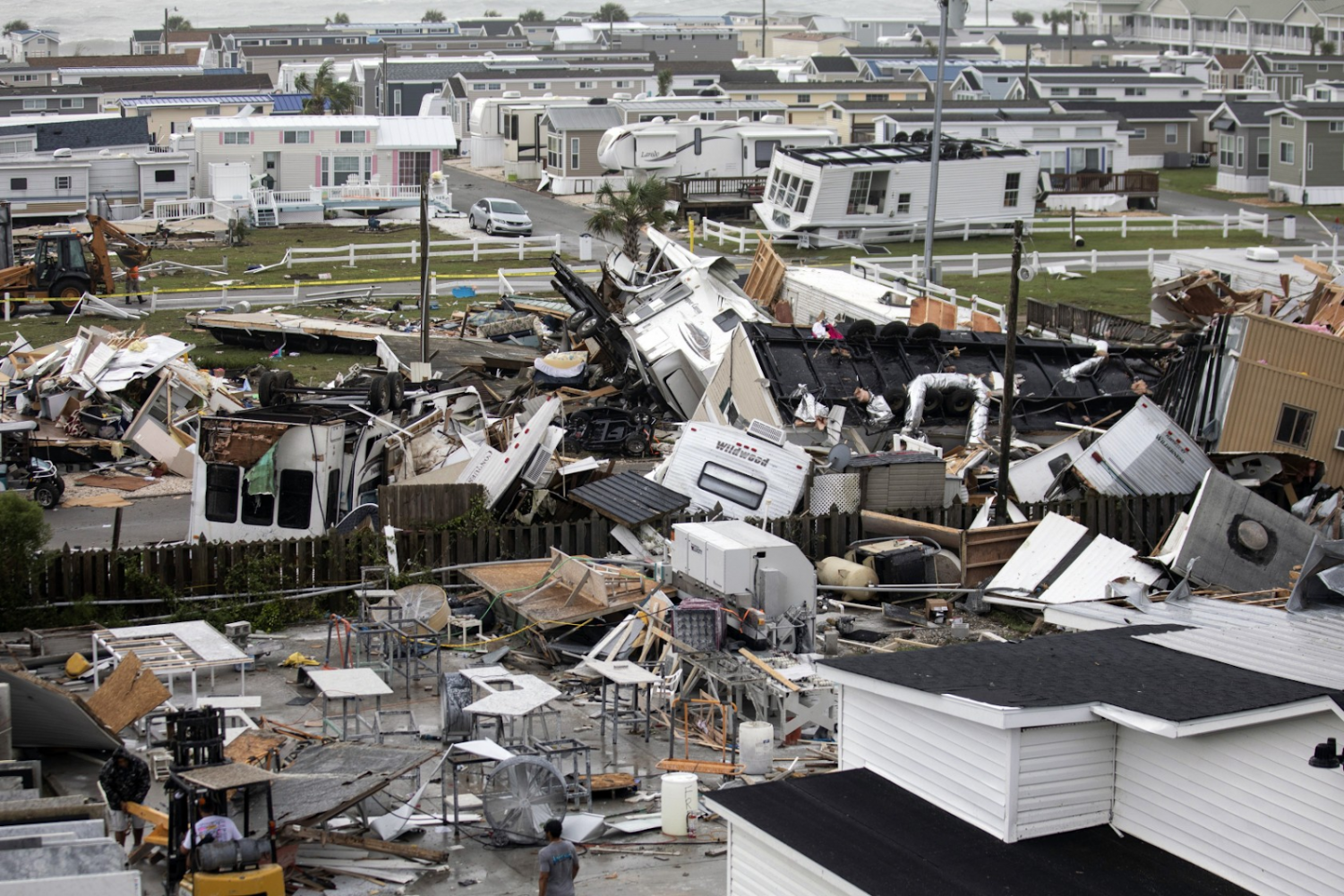 Damages caused by Dorian on a small Island on the coast of North Carolina. Photo Credit: Los Angeles Times