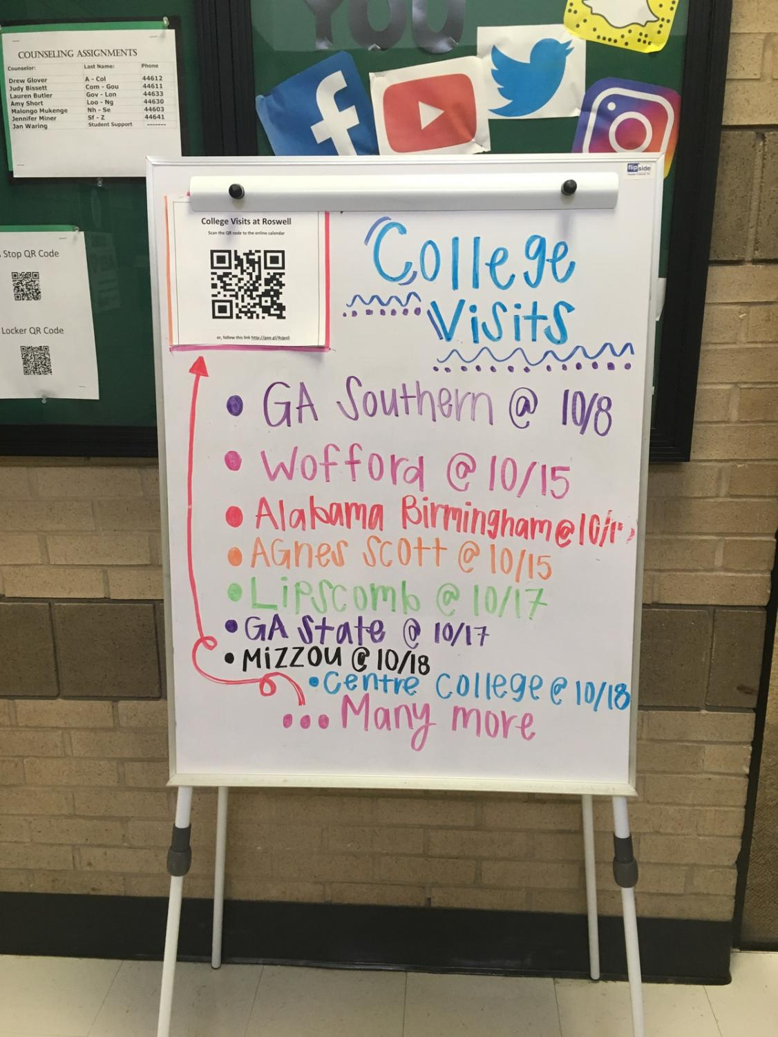 Counselors encourage students to consider attending college visits. Credit: Bridget Frame