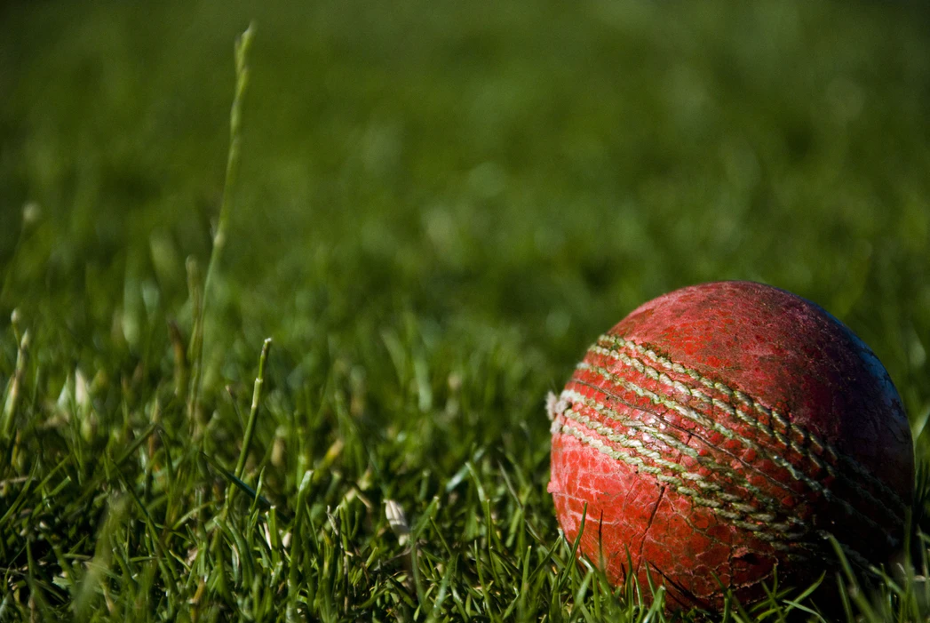 """The above image is an example of a cricket ball; however, """"The Three Musketeers"""" use a tennis ball. Photo Credit: Creative Commons"""