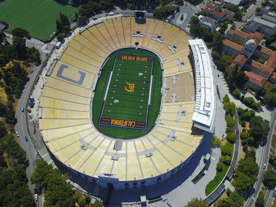 An aerial image where Cal Berkeley's football team plays football. Photo by:  Anthony Hall on Unsplash