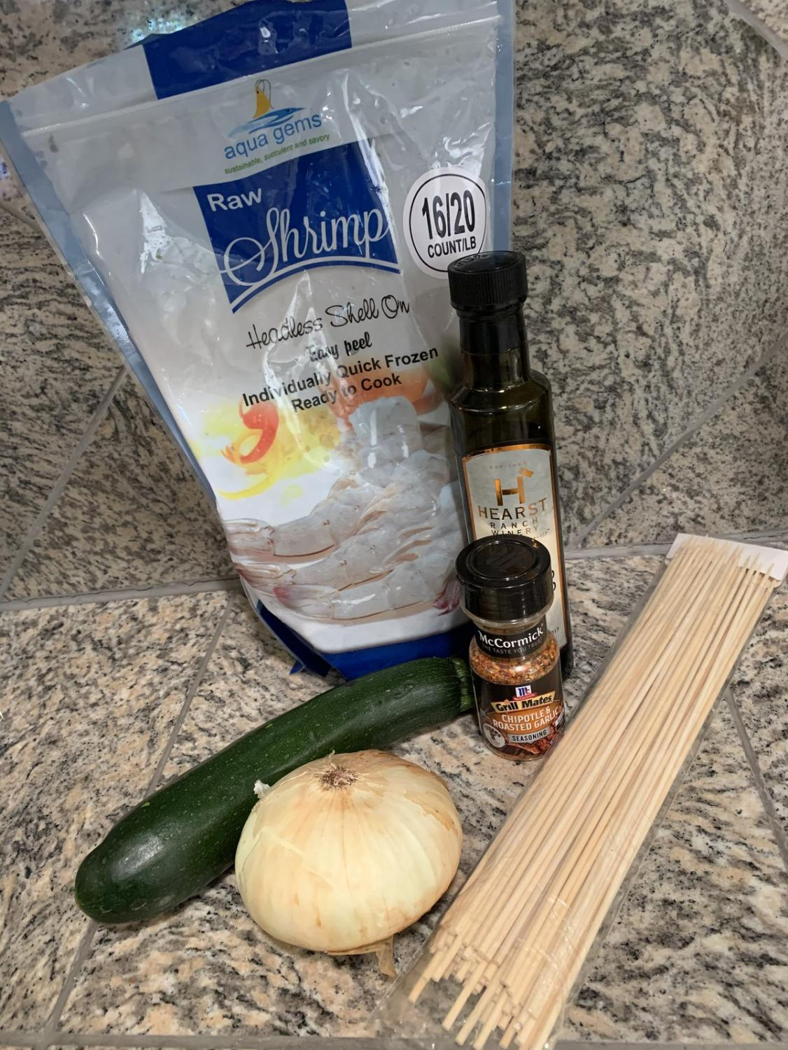 The ingredients you will need to make these delicious shrimp skewers. Photo Credit: Gabby Lerner