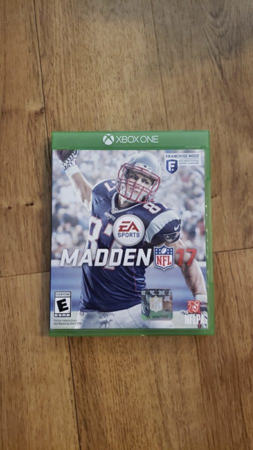 The cover of Madden featuring Rob Gronkowski on the 2017 edition. Photo Credit: Gabby Lerner