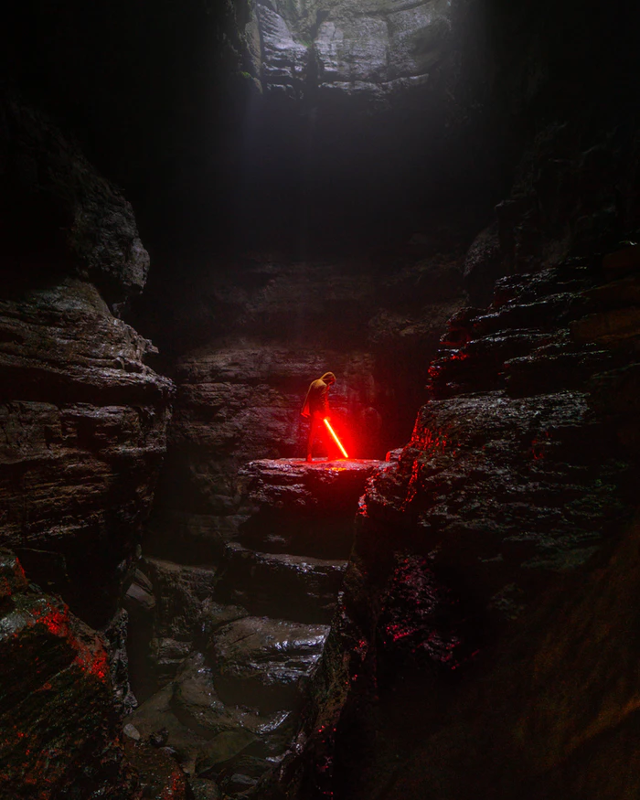 This is an eerie photo of a landscape from a previous Star Wars film. Photo Credit: UnSplash