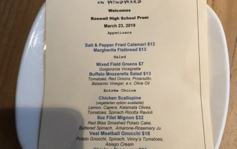 When my group went to Vinny's last year for our prom dinner, they had a set menu for Roswell students. Photo Credit: Smriti Tayal