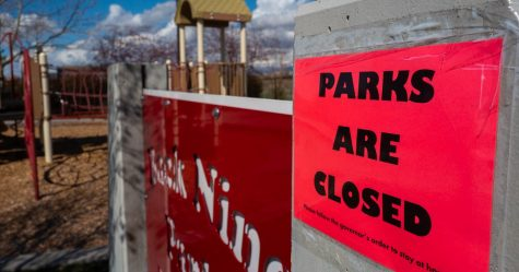Recreational parks and related activities are temporarily closed, as shown above, worldwide. Photo Credit: Salt Lake Tribune