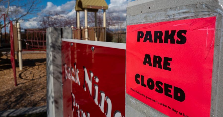 Recreational+parks+and+related+activities+are+temporarily+closed%2C+as+shown+above%2C+worldwide.+Photo+Credit%3A+Salt+Lake+Tribune
