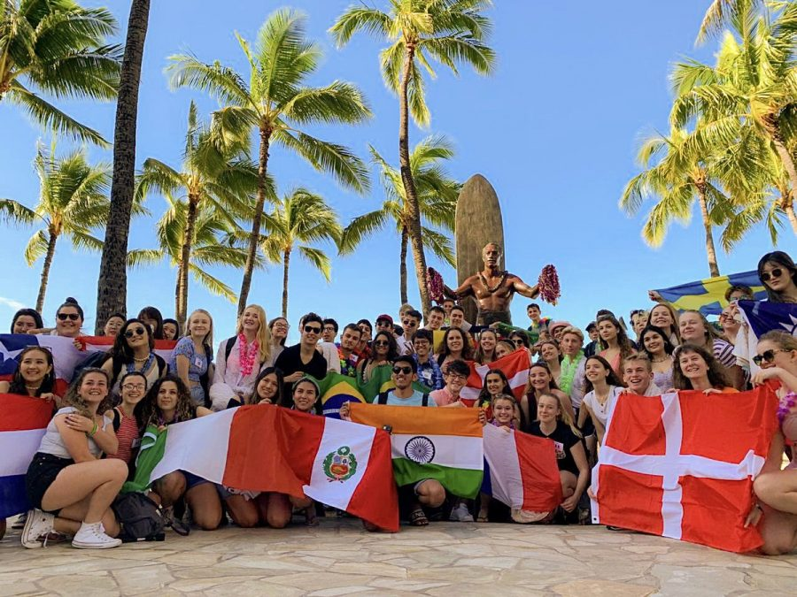 Exchange+students+from+all+around+the+world+having+a+great+time+in+Hawaii+and+learning+about+the+Polynesian+culture.%0APhoto+Credit%3A+Belo+USA