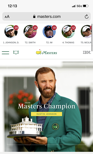 Go to Masters.com on your cell phone or computer to view highlights, scores, and information about the big win of the Masters. Photo credit: Gracie Ross