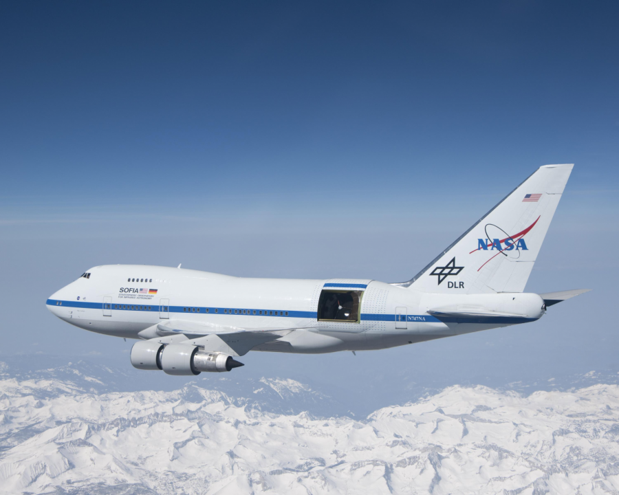 Nasa's SOFIA or Stratospheric Observatory for Infrared Astronomy is used as a mobile location to explore space with a closer look. Photo Credit: Jim Ross, NASA