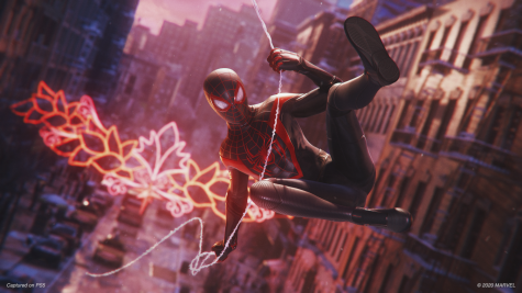 Swing into action as Miles Morales/Spiderman in the newest PS5 game.