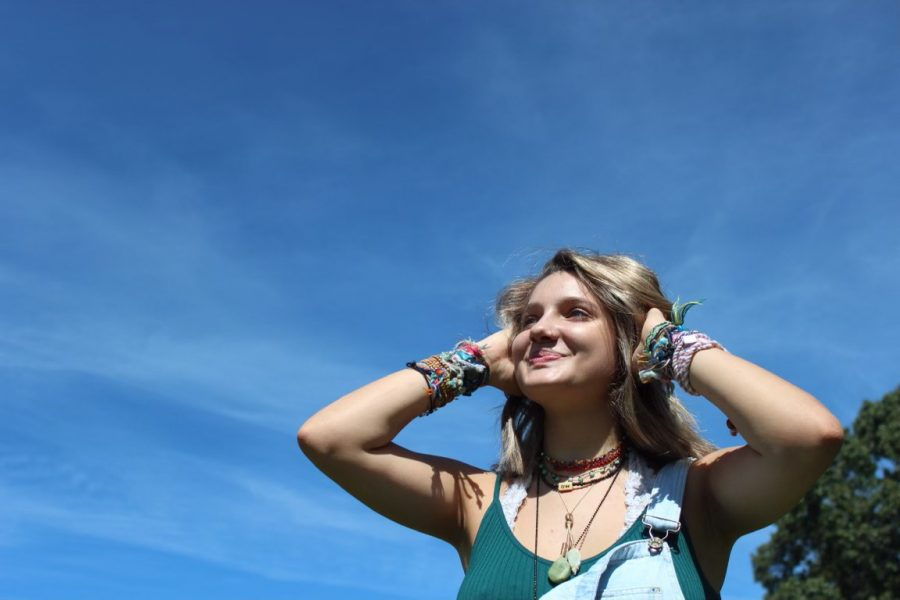 Hayley Newton enjoys a nice summer day, finding the light in the midst of the pandemic. Picture by Hayley Newton