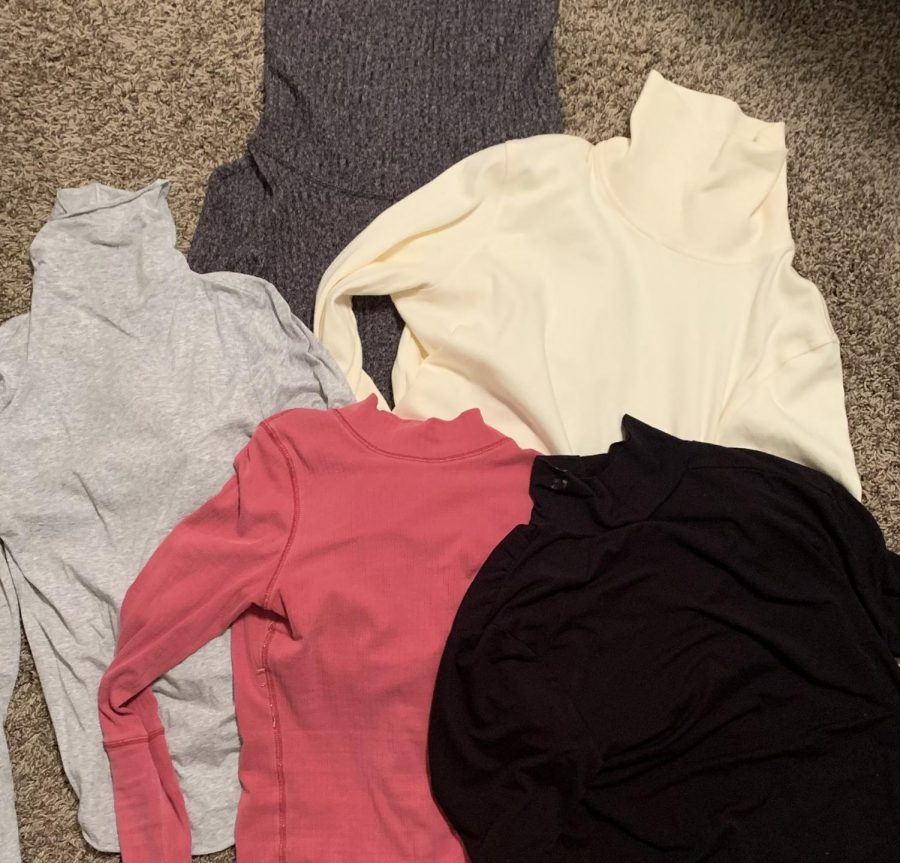 Alli Wiggins' collection of turtlenecks; many styles and colors! photo credit: Alli Wiggins