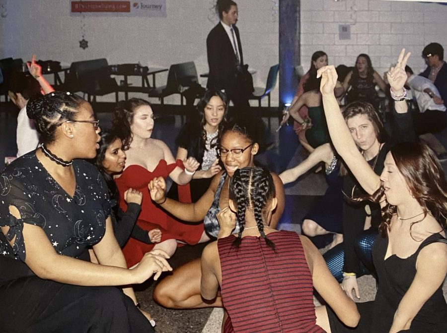 With COVID-19 still extremely prominent today, prom unfortunately, cannot look like this this year. All students will be required to wear masks and social distancing will be implemented as best the school can. That means sadly, no dance circles like this one. (Credit: RHS 2019 Yearbook)