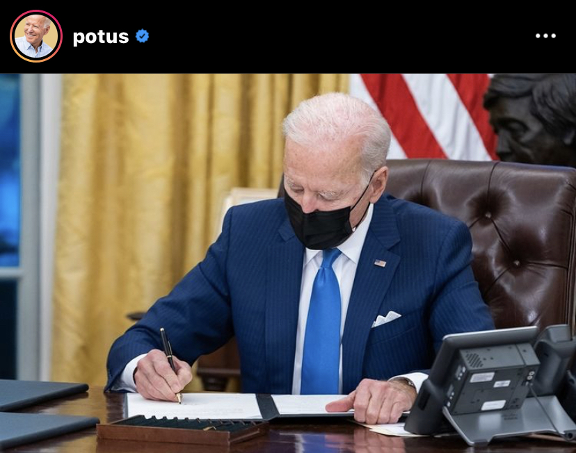 +In+his+first+two+weeks+in+office%2C+President+Joe+Biden+has+signed+into+effect+28+different+executive+orders+in+order+to+move+the+country+in+a+positive+direction.+Photo+Credit+%3A+%40potus%2FJoe+Biden+Instagram