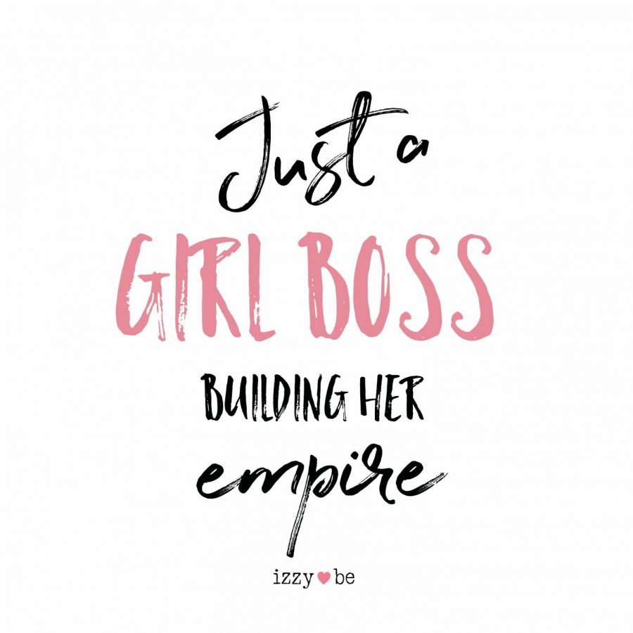 The modern aesthetic of both the satrical and non-satirical girl boss was created by the MLM's and other women-led pyrimid schemes operated on facebook. These groups have a repuation for taking advantage of lower-class women and promising them 'a empire'.  Credit:Izzy Bee Company