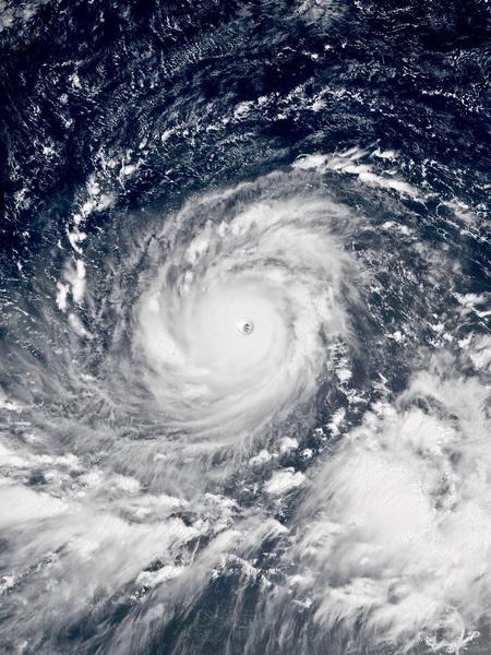 Satellite image of Typhoon Mangkhut  Credit: Wikipedia Commons