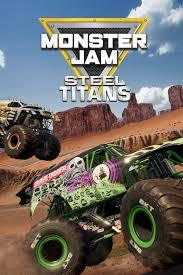 Cover art for the game. The two trucks, Max-D (left) and Grave Digger (right), are two of the fiercest rivals in Monster Jam history. Photo Caption: www.microsoft.com