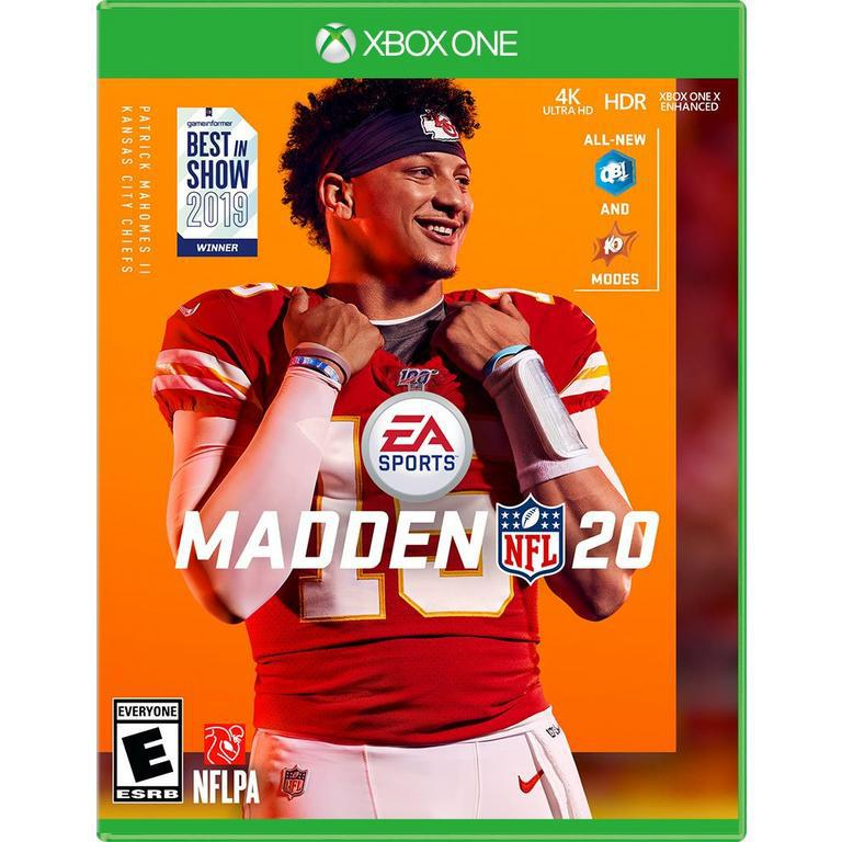 Rookie quarterback Patrick Mahomes on the cover of Ea Sports' Madden 20. Photo Credit: www.gamestop.com