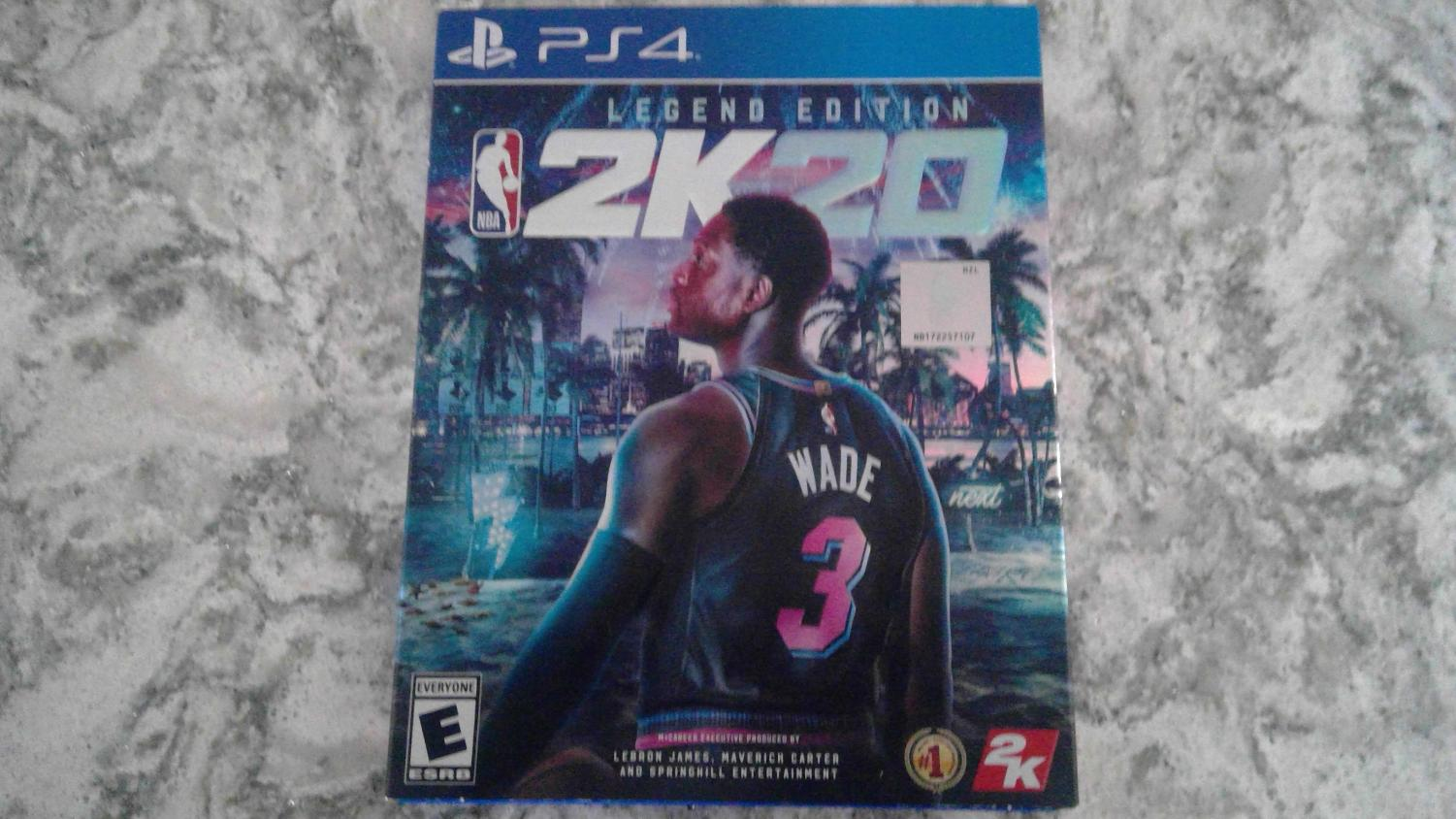 Future Hall of Fame member, Dwayne Wade on the cover of the Legendary edition of NBA 2K20. Photo Credit: Noah Goulbourne