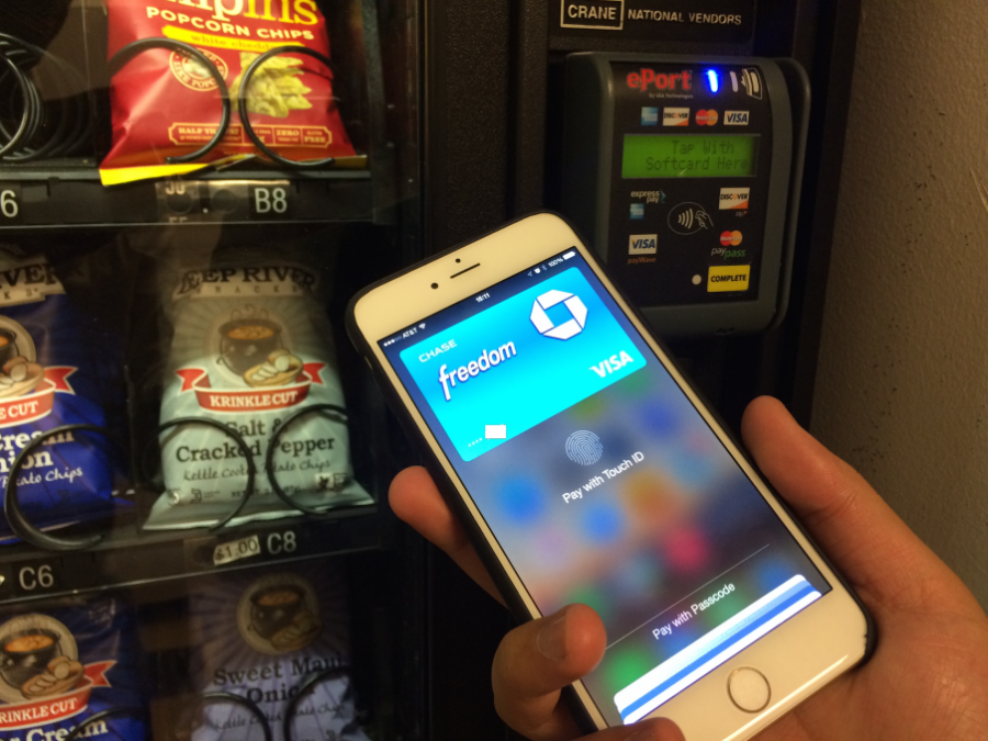 All someone has to do is hover their phone against the card reader to receive their snack.  Credit: Medium.com