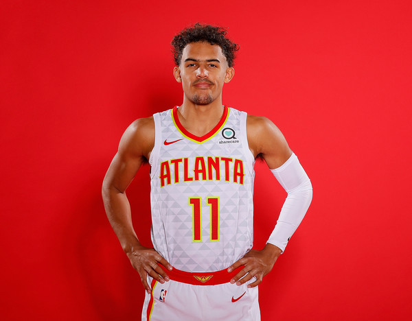 Trae Young has logged 287 assists and 981 points during the 2019-2020 season so far, both top five across the NBA, and is the Hawks top vote thus far for the 2020 All-Star Game. Photo Credit: Zimbio.com