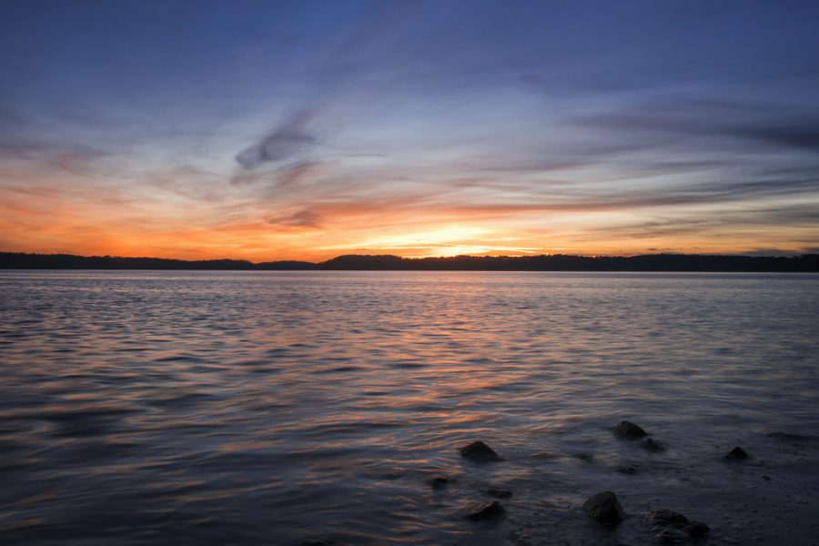 A wonderful sunset at Lake Lanier in Georgia. Photo Credit: Creative Commons