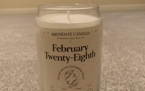 This is the specialized candle I got for my birth month. Photo Credit: Natalie Navarra