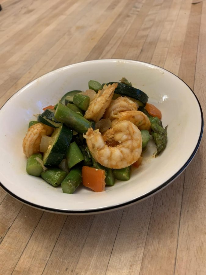 A healthy easy meal, with short cooking time. Photo Credit: Gabby Lerner