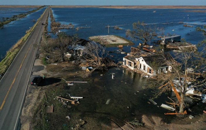 Some of the many floods that Hurricane Delta brought while destroying anything in its path. Photo Cred: Yahoo News