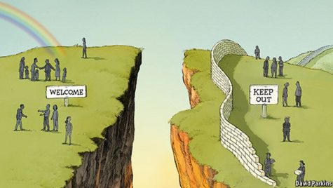 Political divide is put into perspective as it is much greater than previously. Credit: David Parkins
