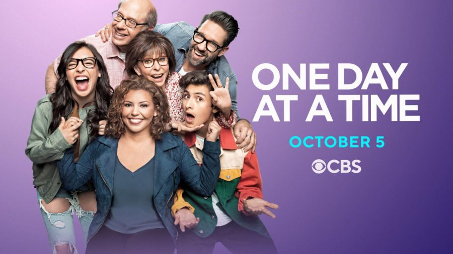 The main cast of One Day at a Time (from top left to bottom right: Stephen Tobolowsky, Rita Moreno, Todd Grinnell, Isabella Gomez, Justina Machado, and Marcel Ruiz
