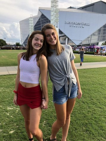 Juniors Cecilia Rubio and Ansley Tanner at a Taylor Swift concert in the new Mercedes Benz stadium. Photo Credit: Ansley Tanner
