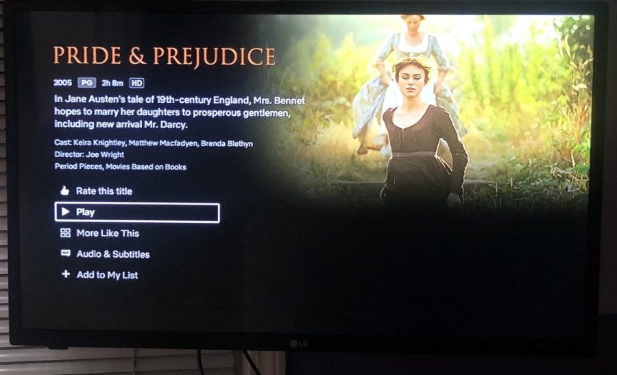 Pride and Prejudice can now be streamed on Netflix.