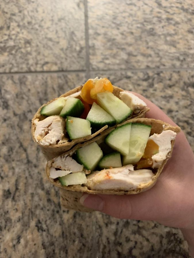 A lunch wrap perfect to take to school and work.