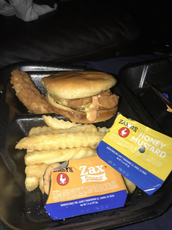 This honey mustard and potato bun Zaxby's creation goes amazing with their delicious crinkle fries. Picture by Lauren Helsing.