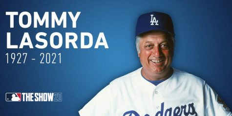 "The Dodgers retired his uniform number (2) on August 15, 1997 and renamed a street in Dodgertown as ""Tommy Lasorda Lane"". Picture by MLB The Show Twitter"