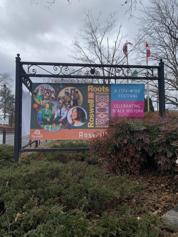 Banners like these are put up on Canton Street and throughout the City of Roswell to promote the festival. Photo credit: Alli Wiggins