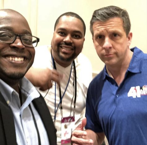Photo of Terez Paylor (far right),Darrius Smith (middle) and Mick Shaffer (far left) of when they went on 41 action news. Photo credit: @terez_paylor on instagram