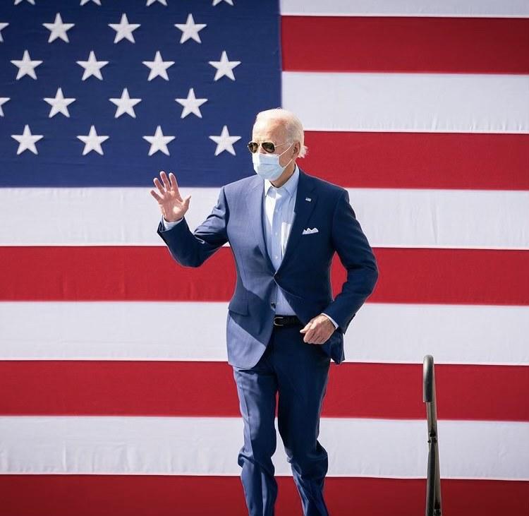 President Biden masked up at the beginning of January. photo credit: @joebiden on Instagram