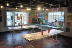 Farmhouse in the city has the perfect venue to host kids birthday parties, school field trips, and any other fun event for kids. There is plenty of room for the kids to create art, play, and hangout. (Credit: Pinterest)