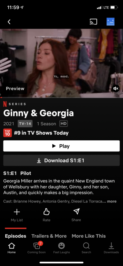 The show Ginny and Georgia on Netflix is a must-watch. (Credit:) Ansley Tanner