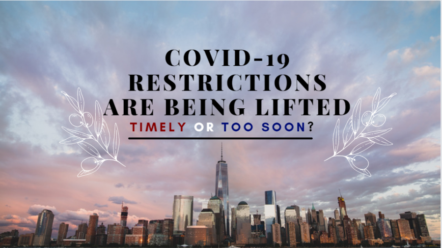 COVID-19 restrictions being lifted—timely or too soon?
