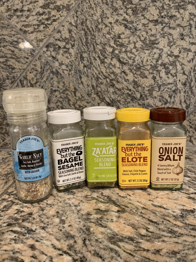 Pic with seasonings: These are the seasonings I cannot live with out. (Credit: Gabby Lerner)