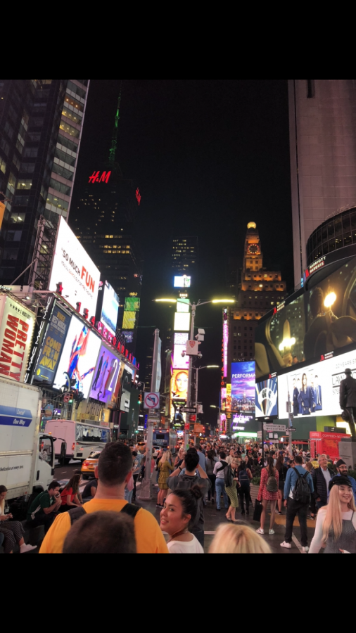 Times Square is one of the top tourists destinations when visiting New York. (Credit: Noah Goulbourne)