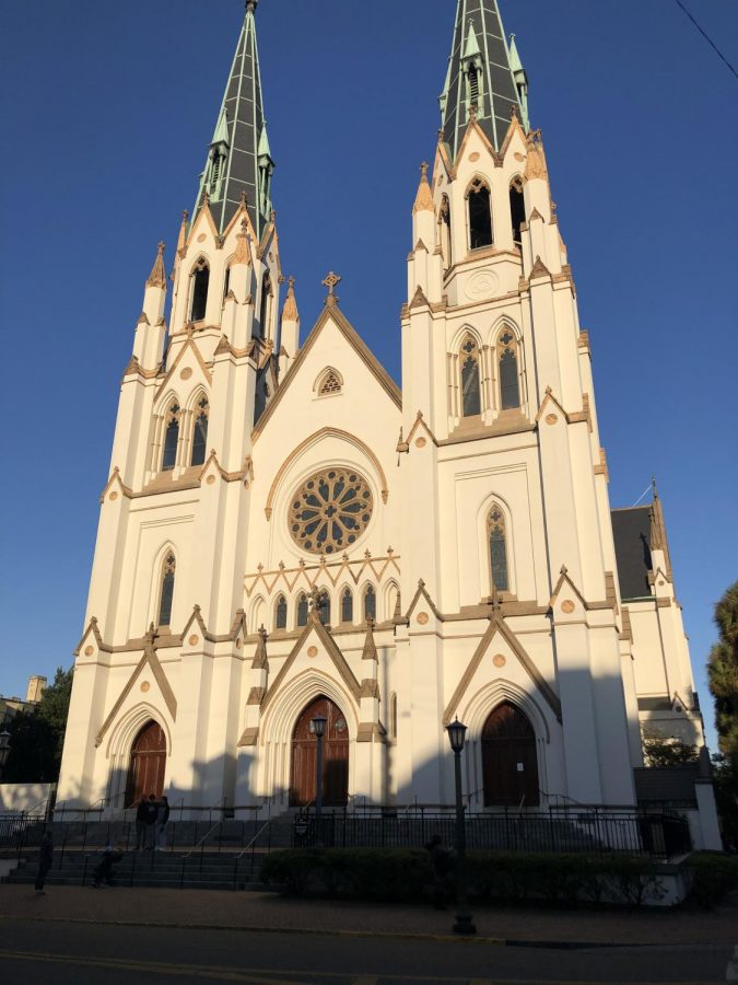 "If you grew up watching Hannah Montana like I did, you'll probably recognize Miley Cyrus in this next film. ""The Last Song"", which starred Miley and Liam Hemsworth, used locations from Savannah in the movie. One of the most prominent, however, was the St John the Baptist church. This church is one of the most popular photo pit-stops in Georgia, which makes sense giving its stunningly beautiful architecture. Of all the places to see on this film tour, this one was by far the most breathtaking. (Credit: Lora Sickora)"