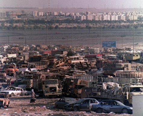The Highway of Death during the First Gulf War is one of numerous war crimes committed by the United States government.