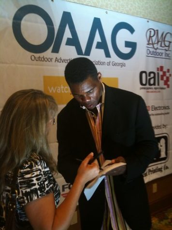 Herschel Walker campaigning for his run for Senate. Photo Credit: Creative Commons
