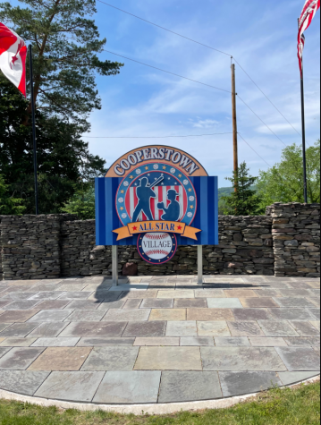 Cooperstown sign welcomes players and their families to the All Star Village. (Credit: Devyn Hlavek)